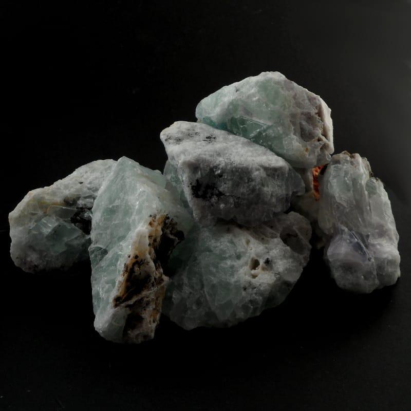 Fluorite on Celestite, raw bulk All Raw Crystals celestite