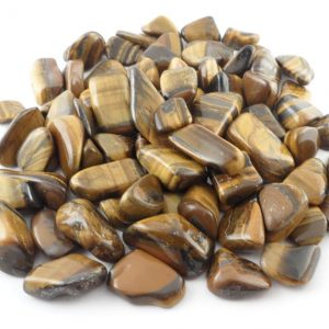 Tiger Eye, Gold, tumbled, 16oz All Tumbled Stones Tiger Eye