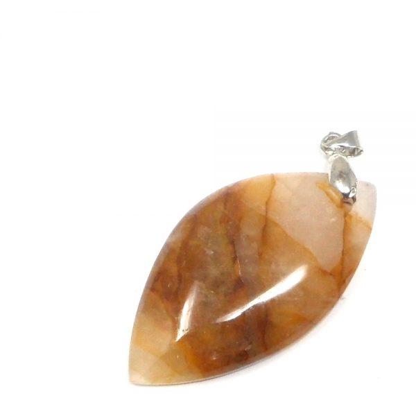 Hematoid Quartz Pendant All Crystal Jewelry fire quartz