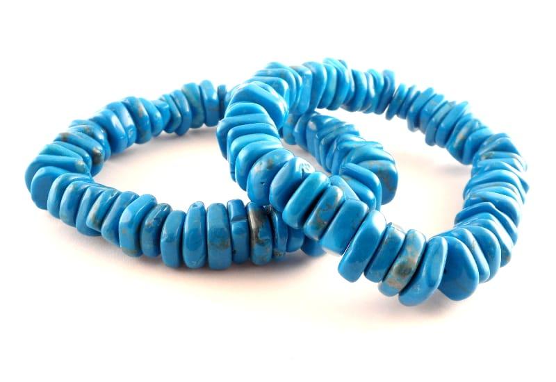 Howlite, Blue Heishi Bracelet All Crystal Jewelry bracelet