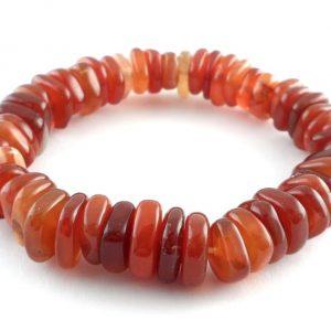 Carnelian Heishi Bracelet All Crystal Jewelry bracelet