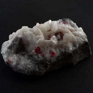 Cinnabar on Dolomite Mineral Specimen Raw Crystals cinnabar