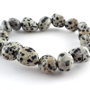Dalmatian Jasper Tumbled Stone Bracelet All Crystal Jewelry bracelet