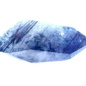 Indicolite (Blue Tourmaline) in Quartz All Polished Crystals blue tourmaline