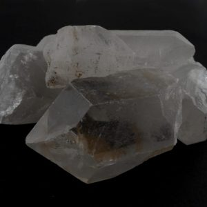 Quartz Points, DT 16oz All Raw Crystals clear quartz