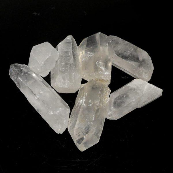 Quartz Points 4-8cm 16oz All Raw Crystals bulk clear quartz
