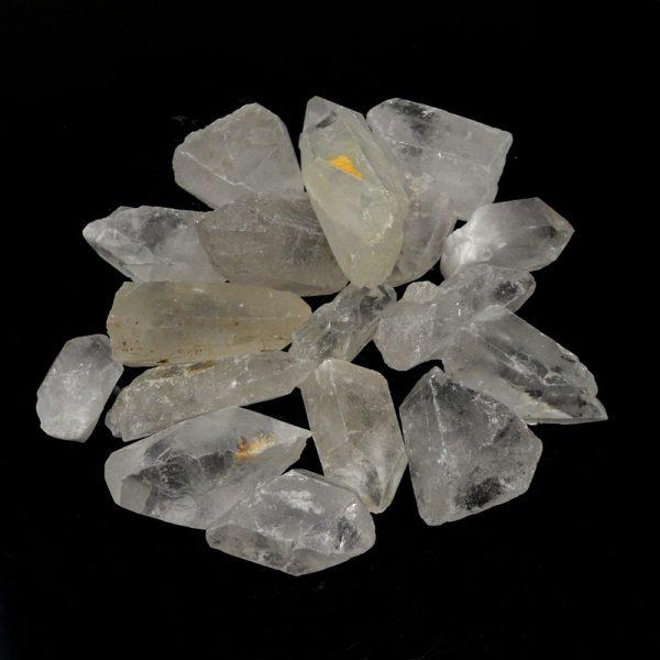 Quartz Points 2.5-6.5cm 16oz All Raw Crystals bulk clear quartz