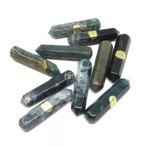 Moss Agate Wands pack of 10 All Polished Crystals agate