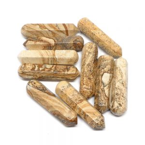 Picture Jasper Wands pack of 10 All Polished Crystals bulk crystal wands