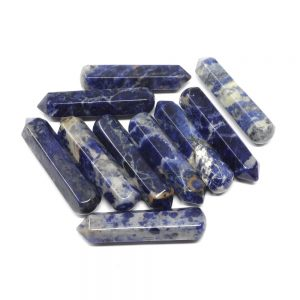 Sodalite Wands pack of 10 All Polished Crystals bulk crystal wands