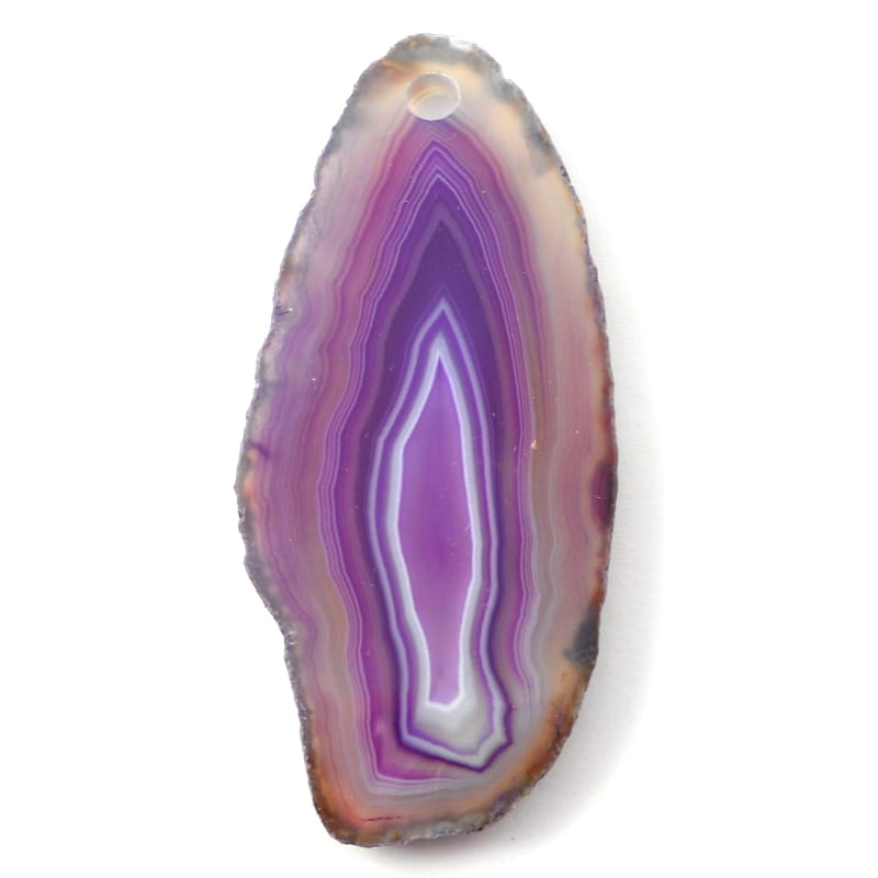 Agate Slice, Purple, drilled Agate Slabs agate