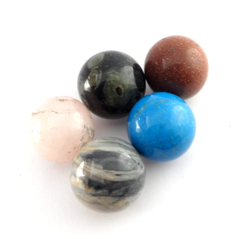 Mixed Small Spheres All Polished Crystals 20mm sphere