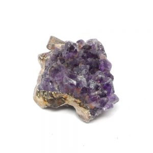 Amethyst Cluster Pendant sm All Crystal Jewelry amethyst