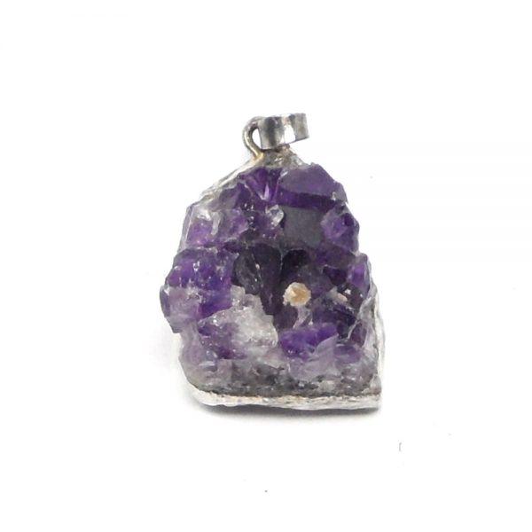 Amethyst Cluster Pendant sm All Crystal Jewelry amethyst