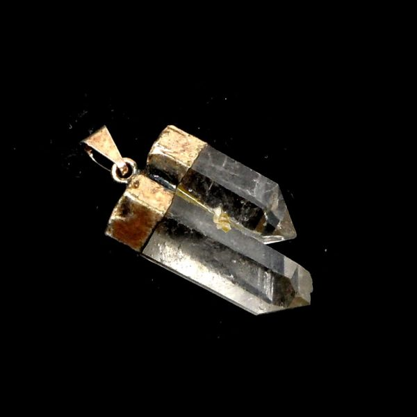 Quartz Double Point Pendant All Crystal Jewelry double point