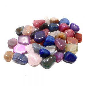Dyed Agate lg tumbled 16oz All Tumbled Stones agate healing properties