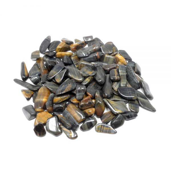 Multi Tiger Eye sm tumbled 8oz All Tumbled Stones bulk stones