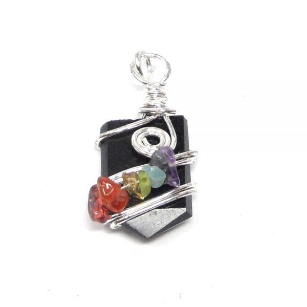 Obsidian Chakra Pendant All Crystal Jewelry black obsidian