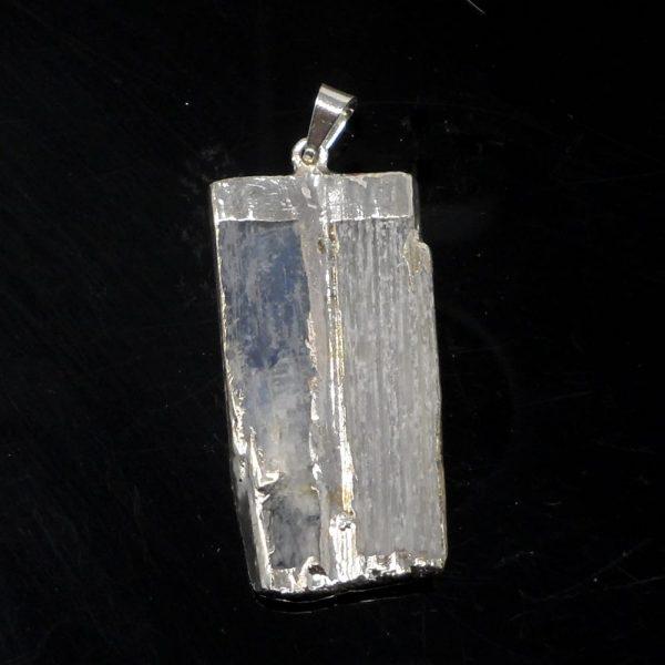 Selenite and Kyanite Pendant All Crystal Jewelry blue kyanite pendant
