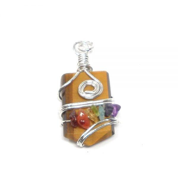 Tiger Eye Chakra Pendant All Crystal Jewelry chakra