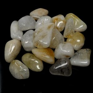 Citrine, lg, tumbled, 16oz All Tumbled Stones bulk citrine