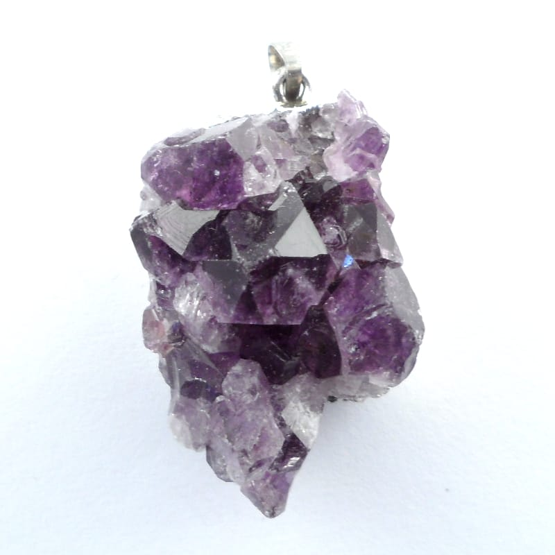 Amethyst Cluster Pendant All Crystal Jewelry