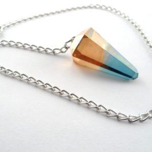 Bi-Colour Aura Pendulum All Specialty Items aqua aura