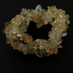 Citrine Triple Strand Chip Bracelet All Crystal Jewelry bracelet