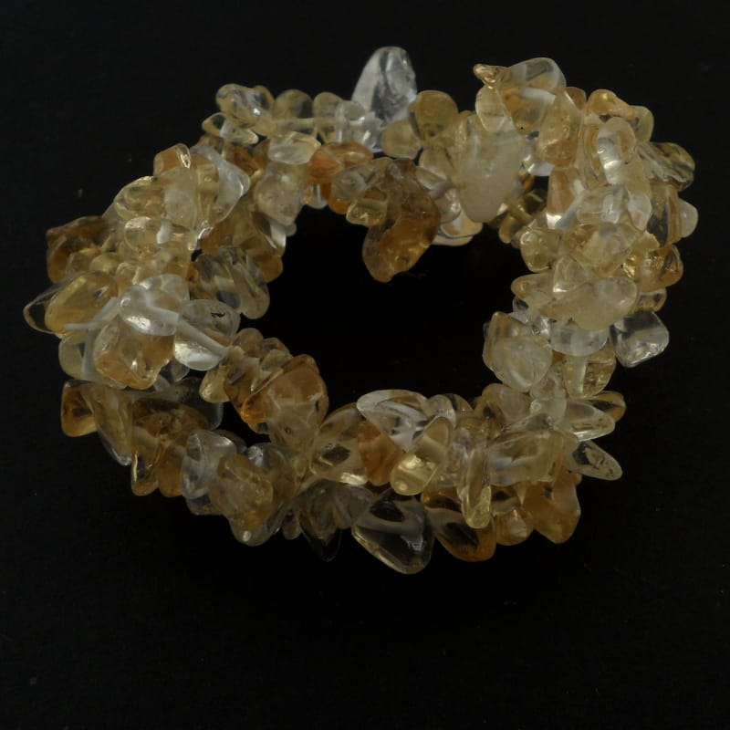 Citrine Triple Strand Chip Bracelet All Crystal Jewelry bracelet