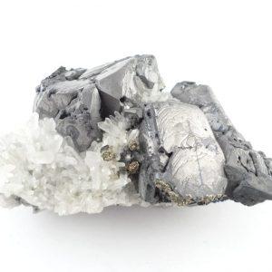 Galena, Pyrite, and Quartz Specimen All Raw Crystals galena