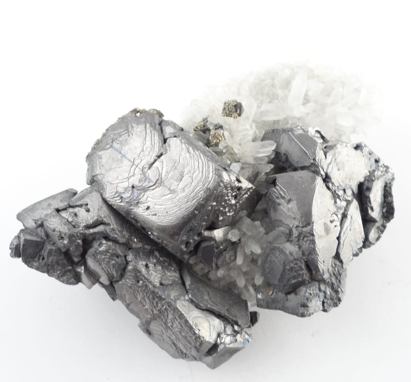 Galena, Pyrite, and Quartz Specimen All Raw Crystals galena
