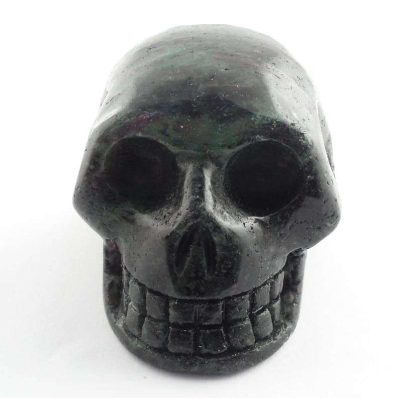 Ruby Zoisite Skull Polished Crystals ruby