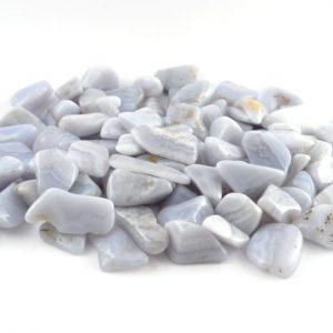 Agate, Blue Storm, tumbled, 8oz All Tumbled Stones agate