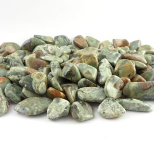 Rhyolite, Rainforest, tumbled, 8oz Tumbled Stones rainforest rhyolite
