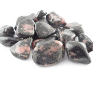 Rhodonite, tumbled, 4oz Tumbled Stones rhodonite
