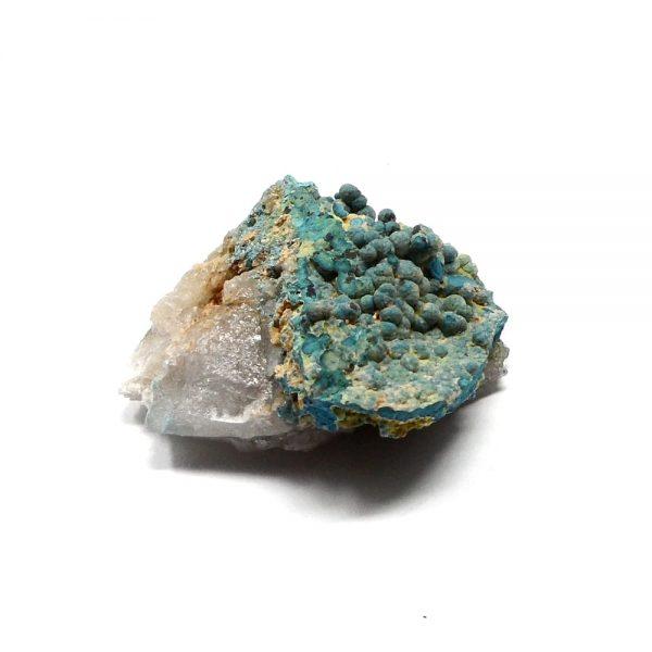 Shattukite-Malachite-Dioptase Specimen All Raw Crystals dioptase