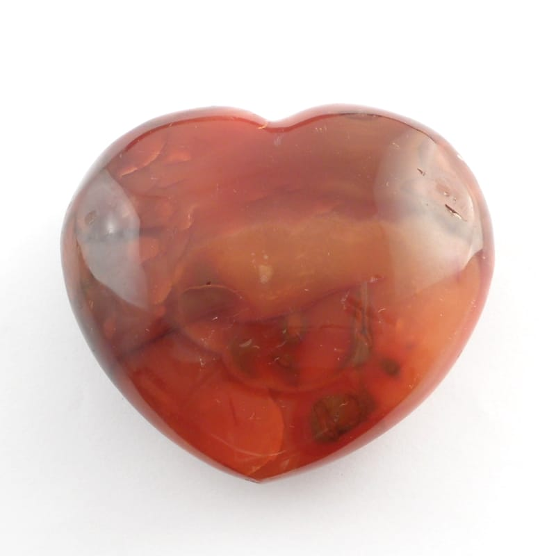 Carnelian Heart Polished Crystals carnelian