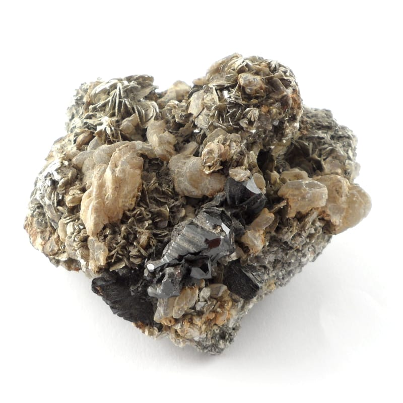 Cassiterite on Mica All Raw Crystals cassiterite