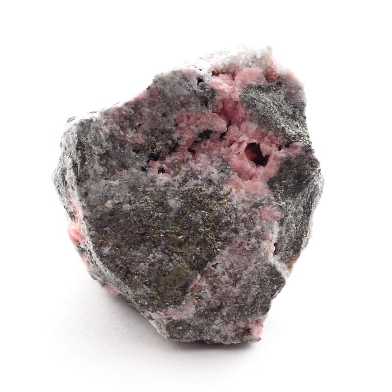Rhodochrosite and Pyrite in Matrix Mineral Specimen All Raw Crystals pyrite