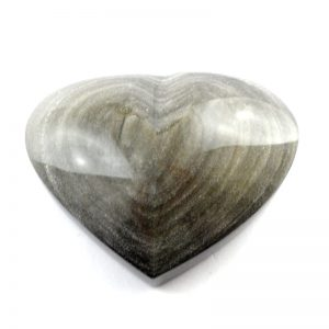 Obsidian, Sheen Heart All Polished Crystals heart