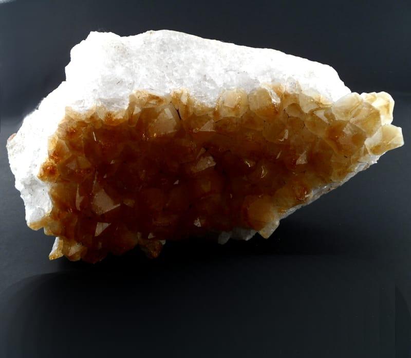 Citrine Cluster, Light All Raw Crystals Citrine