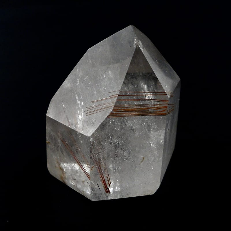 Quartz with Copper Rutile Generator Polished Crystals copper rutile