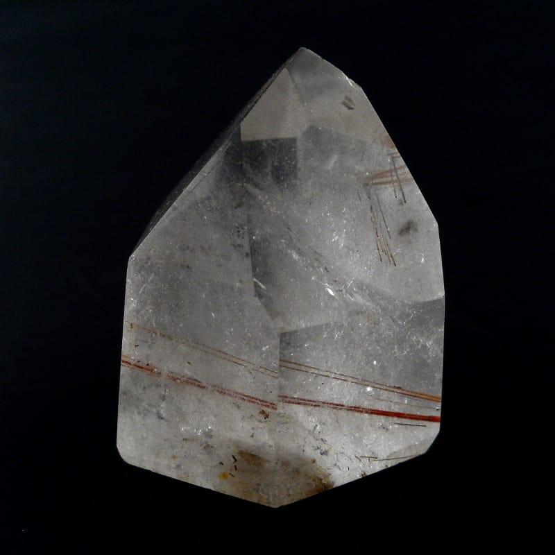 Quartz with Copper Rutile Generator All Polished Crystals copper rutile