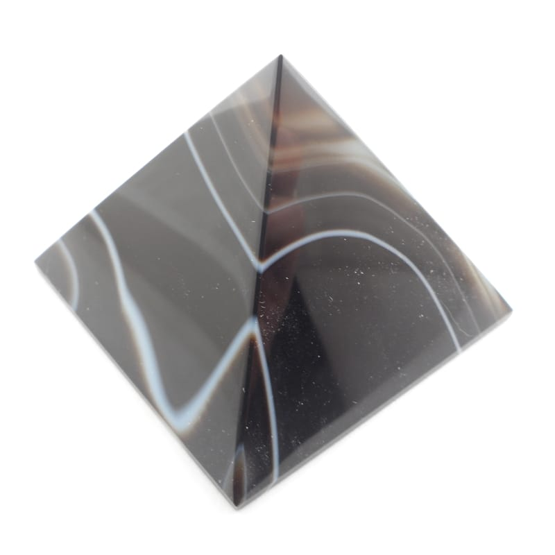 Agate, Black Banded Pyramid All Polished Crystals black banded agate