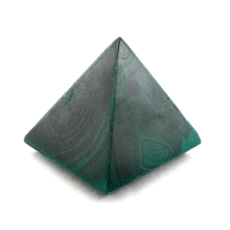 Malachite Pyramid Polished Crystals malachite