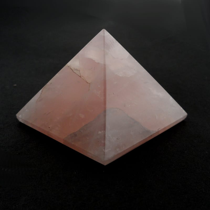 Rose Quartz Pyramid All Polished Crystals pyramid