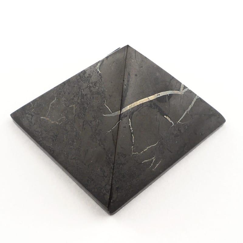 Shungite Pyramid All Polished Crystals pyramid