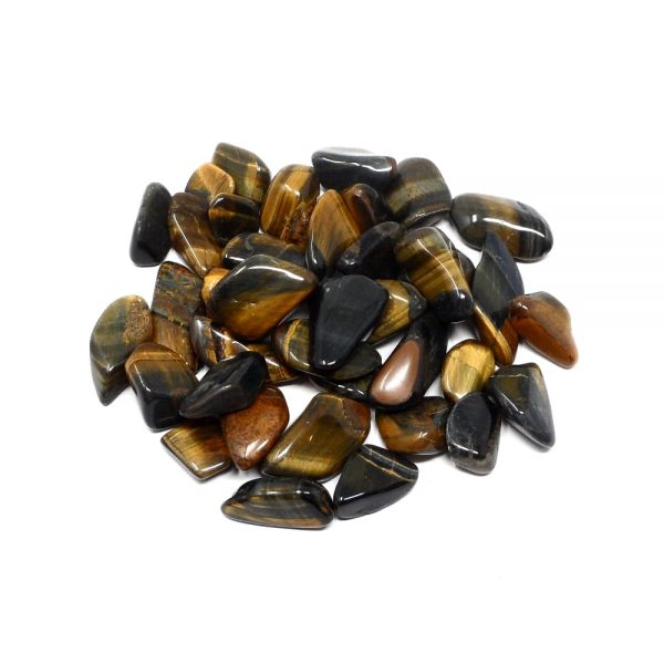 Multi Tiger Eye md tumbled 8oz All Tumbled Stones bulk stones