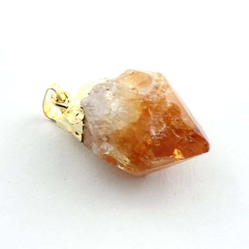 Citrine point soldered pendant Crystal Jewelry Citrine