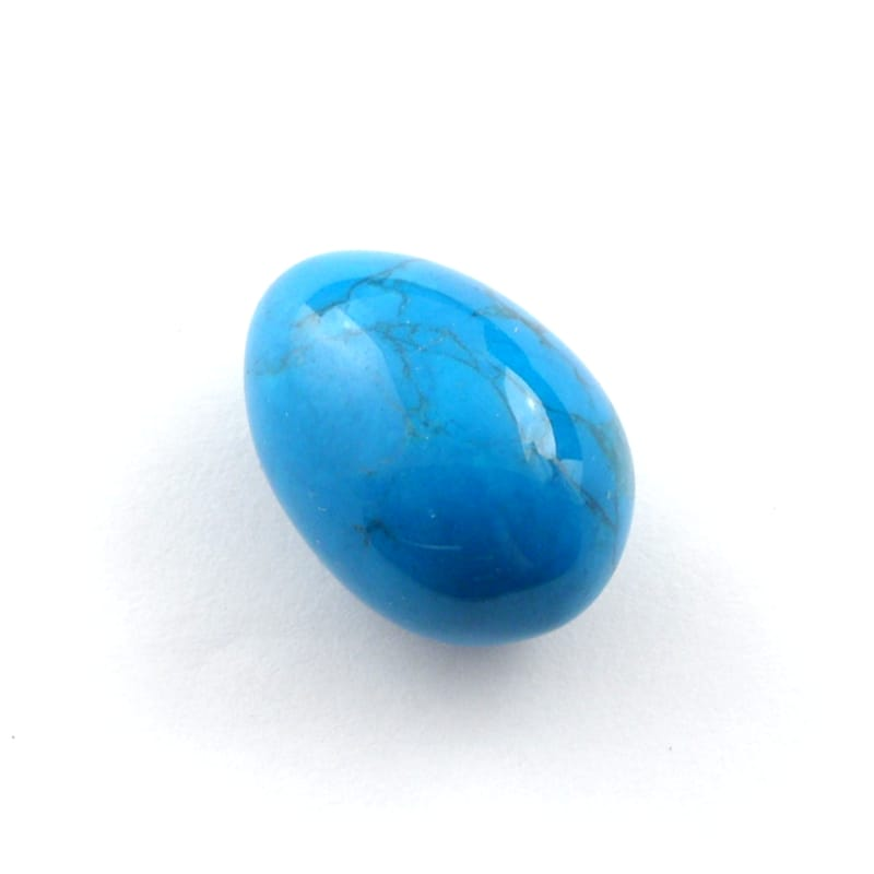 Dyed Egg, Electric Blue All Polished Crystals blue egg